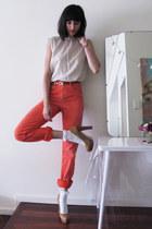 Levis jeans - frilly cotton sev socks - River Island heels - Elvis for Cleo belt