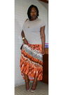 Beige-old-navy-t-shirt-orange-tracy-evans-skirt-brown-rocketdog-shoes-gold