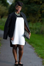Black-flats-bamboo-shoes-black-and-white-primark-dress-zara-zara-jacket