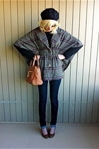 Nordstrom cape - alloy jeans - Forever 21 hat - Charter Club sweater