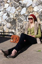 ann taylor flats - Forever 21 hat - Michael Kors purse