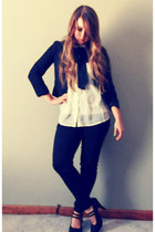 Forever21 blouse - H&M jacket - Forever21 pants