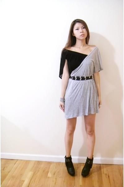 Zara dress - random dress - DIY belt - sam eldermen shoes
