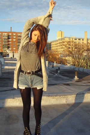 white sweater - black Opening Ceremony shoes - gray Marc by Marc Jacobs t-shirt