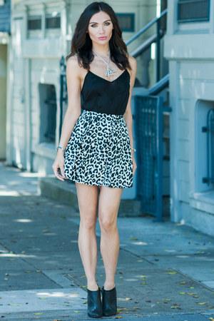 leopard skirt Tibi skirt - boots tildon boots - asos top