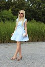 Nude-shoes-light-blue-dress-white-bag-brown-sunglasses-white-necklace