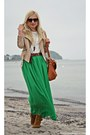 Green-skirt-bronze-stradivarius-shoes-beige-h-m-jacket