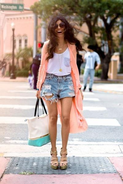 aquamarine Nila Anthony bag - white tank top Nordstrom shirt
