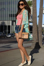 Bubble-gum-tank-top-zara-shirt-navy-shorts-demin-dittos-brand-shorts