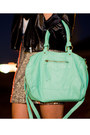 Love-skirt-black-leather-forever21-jacket-green-green-hobo-bag-target-bag