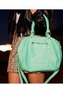 Love-skirt-black-leather-forever21-jacket-green-green-hobo-bag-target-bag