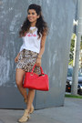 Nude-ankle-forever-21-boots-red-hand-bag-express-bag