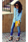 Yellow-fringe-detail-cut-n-paste-bag-sky-blue-skinny-jeans-zara-jeans