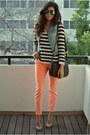 Green-aviator-forever21-sunglasses-orange-neon-skinnies-bdg-jeans
