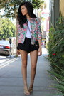 Quilted-floral-zara-jacket-zooshoo-bag-2020ave-shorts-shoedazzle-sandals