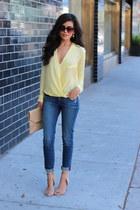 Sheinside blouse - Rich & Skinny jeans - ZooShoo sunglasses