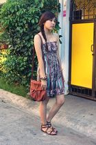 brown dress - brown follow your heart purse - brown PRP sandals