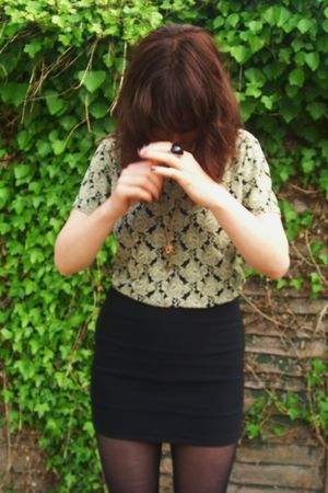 thrifted top - Topshop skirt - Topshop necklace