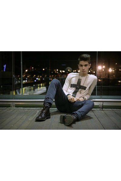 clif boots - Cheap Monday jeans - homemade shirt