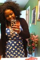 hearts Target dress - Target cardigan - JCPenney belt