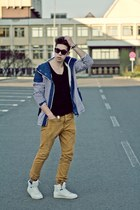 Bershka jacket - Topman pants - Bershka top - Zara sneakers