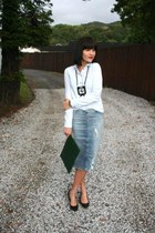 light blue Zara skirt