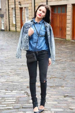 blue denim asos jacket