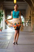 Forever 21 skirt - Bebe shirt - simply vera sandals