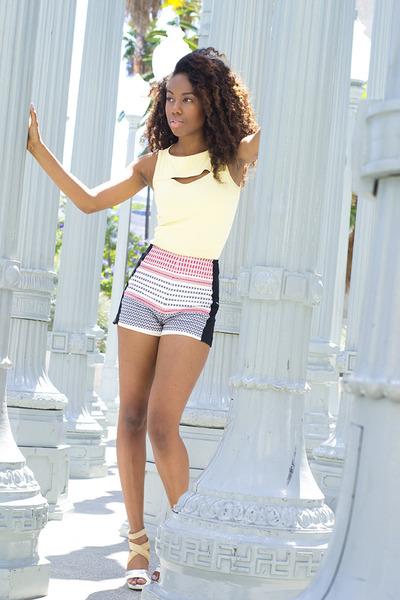 Bebe shorts - Bebe top - Aldo heels