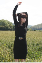 black FanciSchmancy vintage dress - black FanciSchmancy vintage belt