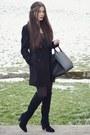Black-zara-boots-charcoal-gray-zara-dress-black-zara-coat-black-h-m-bag