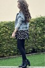 Black-h-m-boots-black-brandy-melville-dress-periwinkle-missguided-jacket