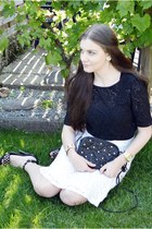 black Vero Moda top - white H&M skirt