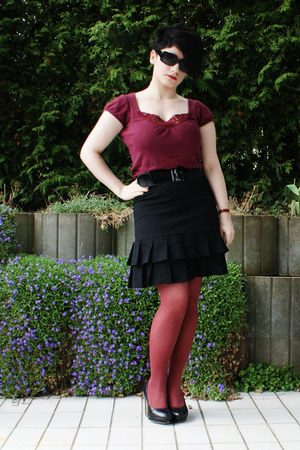 black Orsay skirt