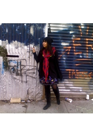 dress - Spanx tights - Chinese Laundry boots - American Apparel