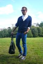 blue Zara jeans - white Ralph Lauren shirt - black Zara bag
