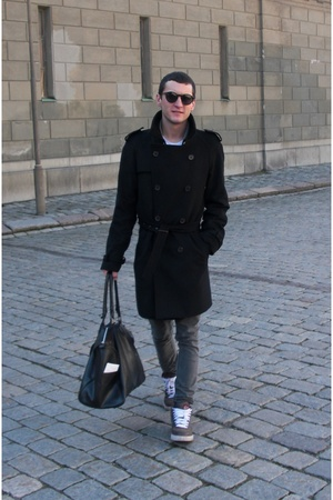Zara coat - Cheap Monday jeans - nike shoes - Zara purse