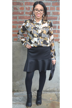 black Forever 21 blouse - black H&M Trend shirt