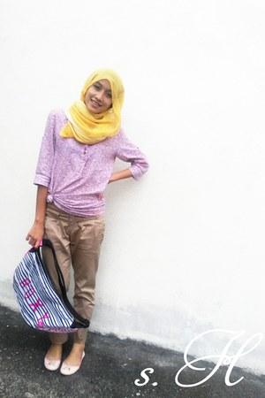 Padini shirt - Roxy bag - Vincci flats