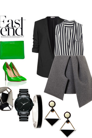 Helmut Lang blazer - Zara blouse - JW Anderson skirt - Giuseppe Zanotti heels