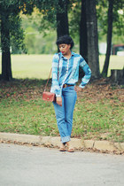 Zara shirt - J Brand jeans - tory burch flats