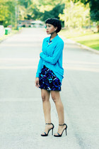 Forever 21 blouse - Zara shoes - Express skirt