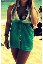 aquamarine unknown brand blouse - boutique sunglasses - golden point swimwear