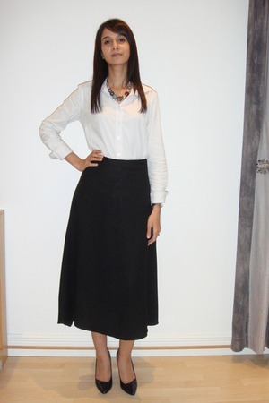 Urban shirt - tailored skirt - Luella shoes - Accessorize necklace - DKNY access