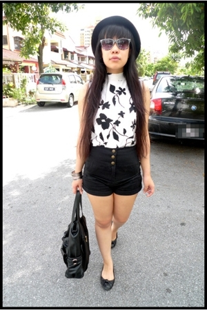 blouse - Topshop shorts - Forever21 accessories - Topshop shoes
