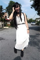 white sheer Topshop dress