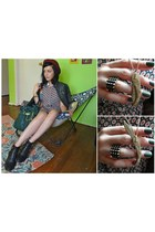 switchblade Nasty Gal necklace - buckle Steve Madden boots