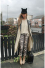 Beige-topshop-boots-beige-topshop-coat-black-ears-japan-hat