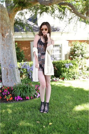 black Charlotte Russe romper - black Urban Outfitters boots