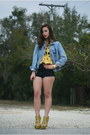 Jean-jacket-vintage-gap-jacket-black-vintage-by-shevahh-shorts